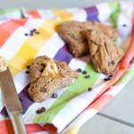 Paleo Chocolate Chip Walnut Scones + Cinnamon Honey Butter Spread